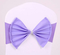 Wholesale Satin Bows For Chairs - Chair Sashes Elastic Satin Chair Bands with Buckle for Wedding Chair Cover Sashes Bows cover band WT065