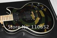 Custom Shop Zakk Wylde bullseye Camouflage Guitare électrique EMG Pickups Gold Hardware Block MOP Inlay