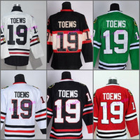 Wholesale Best Silk - Best 19 Jonathan Toews Jersey Chicago Blackhawks 2017 Winter Classic Ice Hockey Sports Throwback Home Red Alternate White Green Black