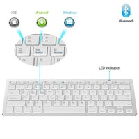 Wholesale Slim Wireless Bluetooth Keyboard - 2017 New Best Ultra Slim Wireless Bluetooth 3.0 Keyboard for IOS Android Windows System Tablet PC Computer IPAD Smartphone