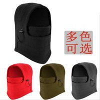 Wholesale Snowboard Scarf Mask - Thickening Warm Outdoor Sport Hats Ski Winter Hat Full Face Nodding Windproof Bicycle Snowboard Sport CS Mask Caps Fashion Hooded Scarfs