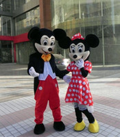 Wholesale Couple Music - Couple Mickey And Minnie Mouse Mascot Costume Cartoon Suit Adult Size Clothing Party Fancy Dress Brand New Costumes