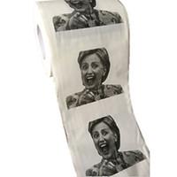 смешно новизна туалетная бумага оптовых-Хиллари Клинтон Дональд Трамп Барак Обама туалетная бумага-новинка смешно туалетная бумага кляп подарок 500 шт.