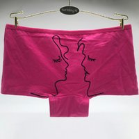 Yun Meng Ni Intimo New Style Simple Stick Girl Boy Disegno traspirante Cotton Boyshorts Ladies Boy shorts