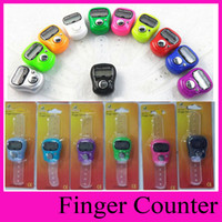 Wholesale hand counters - High quality promotional gift 1011 Tally Muslim Counter Finger Counters sxh5136 finger counter LED hand tally counters for muslim