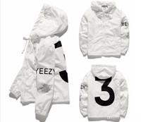 Wholesale V Neck Windbreaker - Brand Mens Coat Hip Hop Windbreaker 3 Figure Zipper Jacket US Size Men Waterproof Streetwear Outerwear uniform Jacket For Man