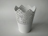 Wholesale Bucket Tin Box - White Vase small Decorative table centrepieces Metal vase garden bucket tin box Iron pots Flower pot Planter