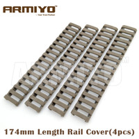 Wholesale picatinny tactical accessories online - Armiyo slot Snap on quot Tactical Ladder Rubber Cover Quad Handguard Picatinny Rail Shooting Hunting Gun Accessories