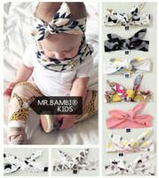 Wholesale Elastic Items - Baby INS bowknot Headbands Children Hair Accessories 9 items Fashion kids ins Cute Hair bows girls toddler Elastic Headwrap Hair Accessories