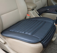 Wholesale Leather Car Cushions - 2016 Summer Car Leather Bamboo Charcoal Cushions Car Ceat Covers Car Seat Cushion Pad Monolithic Ice Silk Cushion Ceat Pads