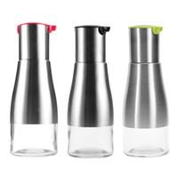yağlı boya şişeleri toptan satış-Paslanmaz Çelik Yağ Şişesi Tencere Ev Mutfak Aracı Şişeler Sızdırmaz Çok Renkler Için 10zh C R