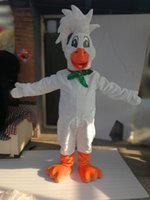 Wholesale White Duck Adult Costume - Hot Sale Cartoon Real Pictures duck mascot costume Adult Size free shipping