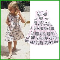 Wholesale Kids Leopard Halloween Costume - kids toddler baby cat princess tulle tutu dress vestido casual style america fashion lovely children clothing outfit costume