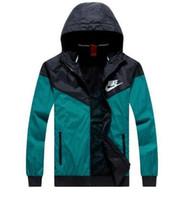 Wholesale man jacket fabric - Free shipping Fall thin windrunner Men Women sportswear high quality waterproof fabric Men sports jacket Fashion zipper hoodie plus M- 3XL