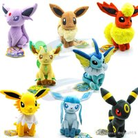 Wholesale Stuffed Lugia - EMS Poke Mon plush toys 8 styles 8inch Suicune Charizard Wobbuffet Lugia Pikachu Jigglypuff gengar Lucario Poke Stuffed Animals Dolls E1162