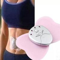 mariposas electrónicas al por mayor-3 colores Envío gratis Mini mariposa diseño Body Muscle Massager masajeador adelgazante electrónico para Fitness 4 luces LED de pantalla