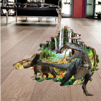 Wholesale Kids D Glasses - 3 D Wall Stickers Wholesale Creative Bedroom of Children Room Decorate Metope Dinosaur Sticker Wall Stickers