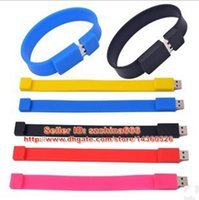 Bracelet en caoutchouc 2 Go 4 Go 8 Go 16 Go USB Drive Bracelet USB Flash Pen Drives Memory Stick + Box