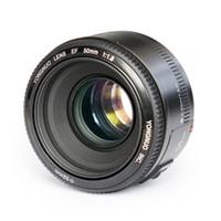 Wholesale focus standards for sale - YONGNUO YN50mm f1 YN EF mm f AF Lens YN50 Aperture Auto Focus for Canon EOS DSLR Cameras DHL
