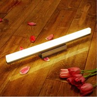 Wholesale led vanity light bathroom - Modern simplicity Led Mirror light stainless steel base acrylic mask bathroom vanity wall mounted lights FIXTURE 9w 12w 14w 16w 20w