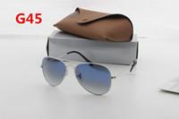 Wholesale Italian Brand Glasses - 1 Europe and the United States fashion sunglasses Italian brand designer men and women 48mm 58mm silver blue gradient glasses