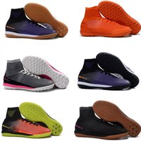 Wholesale Authentic Soccer - MercurialX Proximo II IC Men Football Shoes Cheap Soccer Shoes Trainers Authentic MD Football Boots Men's Outdoor