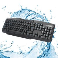 Wholesale Static Key - Waterproof Keyboard Standard 104 keys Series F-22 Black Fashion Business Anti-static Anti-electromagnetic Interference for PC Game CAS_40L