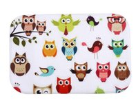 owl rug - 40 cm Owl Bath Mats Anti Slip Rugs Coral Fleece Carpet For For Bathroom Bedroom Doormat Online