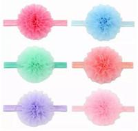 Wholesale Organza Flowers For Headband - Cute Girls Headwear Environmental Protection Organza Chiffon Tape Hair Band Flower Headband Hair Accessories for Girls