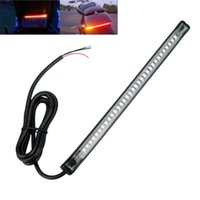 Wholesale 30PCS SMD LED Integrated Motorcycle Light Strip License Plate Lamp Tail Brake Light Turn Signal Indicator Lamp Soft Silicone