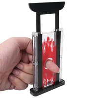 Wholesale Finger Chopper - Wholesale- New 1Pc Funny Guillotine Stage Finger Hay Cutter Chopper Magician Trick Prop Magic Toy