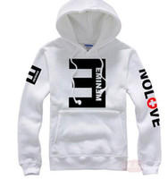 Wholesale Black White Striped Clothing - New brand Men's Fleece Hoodies Eminem Printed Thicken Pullover Sweatshirt Men Sportswear Fashion Clothing