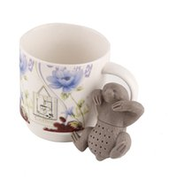 Wholesale Tea Infusers Strainers Wholesale - Cute sloth tea infuser Lazy sloth food grade silicone tea strainer Loose leaf diffuser accessories 0702288