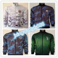 Wholesale Men S Camouflage Jackets - top 2017 2018 Chelsea soccer jersey Camouflage tracksuit 17 18 HAZARD ROBBEN BIDAL LEWANDOWSKI DYBALA HIGUAIN OZIL ICARDI football jackets