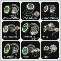 Wholesale brand fuse - Brand new Prebuilt coil Resistant Wire Alien Clapton Fused clapton Flat twisted Mix twisted Tiger coil wholesale price DHL free