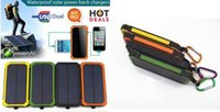 Wholesale Cell Phone Ex - Hot 8000mAh-Portable-Waterproof-Solar-Charger-Dual-USB-External-Battery-Power-Bank 20000mAh-Portable-Waterproof-Solar-Charger-Dual-USB-Ex