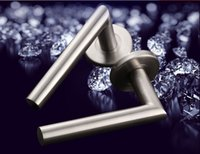 Wholesale Door Handles Levers - Big promotion 2016 solid stainless steel 304 L shape lever door handle interior room pull washroom pull 1kg per pair