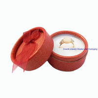 Wholesale round color paper resale online - Multi Color Cute Ribbon Kinds Of Mixed Colors Small Round Jewelry Display Paper Gift Boxes Earrings Ring Box
