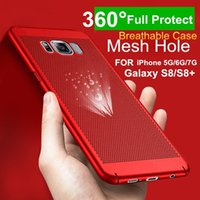 Breathable Mesh Hole Cooler Coque Heat Dissipation Armor Full Protective Back Case Fundas для iPhone 7 Plus 6S 6 Plus Samsung Galaxy S