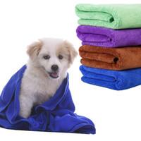toalhas de praia tecidas venda por atacado-Panos de limpeza de microfibra Pet cobertor Hypoallergenic químico livre de limpeza de cães e grooming pano moda Pet banho toalha Pet suprimentos