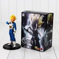 modelo soldado al por mayor-20 cm Dragon Ball Z Resolución de Soldados ROS Vegeta PVC Figura de colección Modelo de juguete