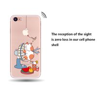 Wholesale Iphone Nice Design Case - For Iphone X 8 7 6 Phone Shell Transparent Nice And 2017 Fashion Design Soft Tpu Case For Iphone 7plus Opp Package