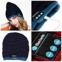 ingrosso cappello stereo-100% Originale Soft Warm Beanie Hat Wireless Bluetooth Smart Cap Headset Cuffie Altoparlanti Mic Stereo Bluetooth Hat 100 pz YYA576