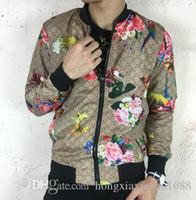 Wholesale Uniform Coat Blazer - New Arrival Men's Casual Jacket stand collar printing tiger baseball uniform business suit blazers Man Outdoor Coat Top quality