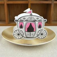 ingrosso baby carriage candy box-Bomboniera Caramella Caramella Bomboniera per matrimoni Originalità Scatole di carta da regalo in stile europeo 0 2wj C R