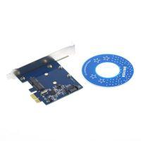 ssd pcie toptan satış-PCI-E PCIe mSATA SSD + SATA 3.0 Combo Genişletici Adaptör PCI-E SATAIII Kart Dünya Çapında StoreWholesale