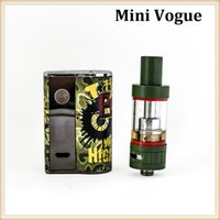 Wholesale Ems Free Delivery - 100% Authentic iTsuwa VV Mini Vogue 50w Kit Army Green Colour With Mini Riptide Tank Free DHL or EMS Delivery