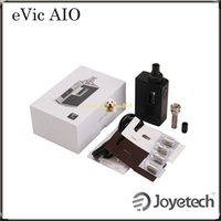 Wholesale Mysterious Black - Joyetech eVic AIO VT Kit W O Battery All-in-one Design with Interchangeable Plate 75W eVic AIO Most Mysterious e-Cig Ever 100% Original