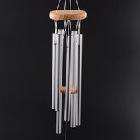 Wholesale Wall Hanging Bell - Antique Amazing Grace Deep Resonant 6 Tube Windchime Chapel Bells Wind Chimes Door Wall Hanging Home Dec