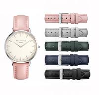 Wholesale Watchs Women - Women Watch Luxury Brand Rose Field Montre Femme Casual Ultra Thin Quartz Watch Women DW Ladies Watchs Reloj Mujer